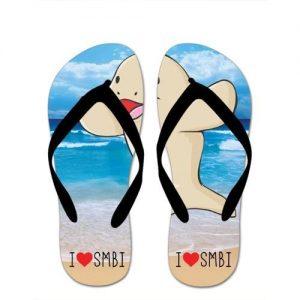 I Love SMBI Thongs - Black Strap